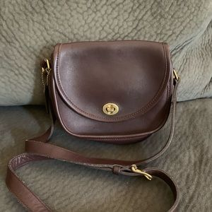 Supple brown coach mini bag